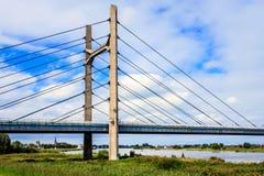 Bro nära Kampen, Overijssel, Nederländerna Arkivfoton