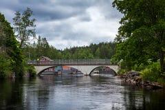 Bro nära Werla finland Arkivbilder