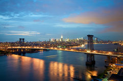 bro nya williamsburg york Royaltyfri Foto