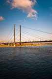Bro och flod arkivbilder