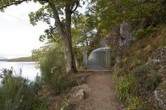 Bro och gåbana Arkivbild