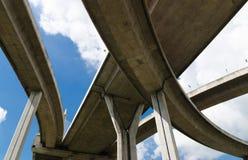 Bro och himmel Arkivbilder