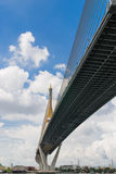 Bro och himmel Arkivfoto