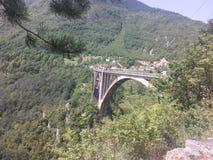 bro ont den lösa floden royaltyfri foto