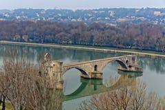 Bro på Avignon Arkivbilder