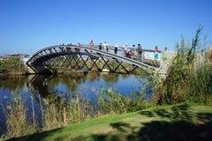 Bro på den Yarkon floden Arkivfoton