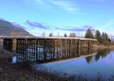 Bro på Dewdney F. KR. Fotografering för Bildbyråer