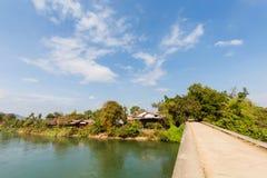 Bro på Don Khon Laos Royaltyfria Foton