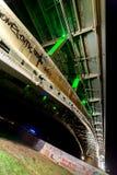 Bro på en tyst natt, nedersta sikt Arkivfoton