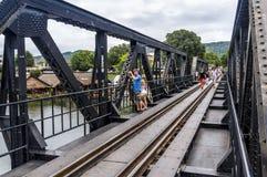 Bro på floden Kwai Arkivfoton