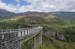 Bro på floden Tara Fotografering för Bildbyråer