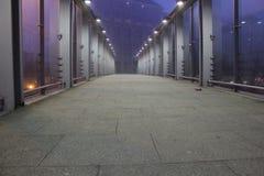 Bro på gryning Arkivbild