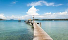 Bro på havet Fotografering för Bildbyråer