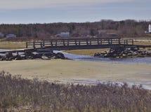 Bro på strand 3585 royaltyfria bilder
