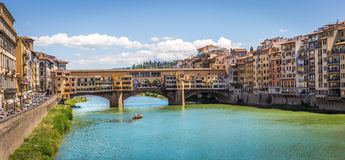Bro Ponte Vecchio, Italien Arkivbild
