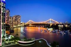 Bro Queensland Australien för Brisbane stadsvåning royaltyfria bilder