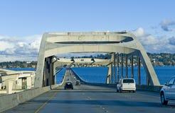 bro som flottörhus seattle Arkivfoto