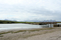 bro ståndsmässiga ireland mulranny mayo Arkivbild