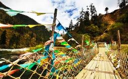 bro tibet royaltyfria bilder