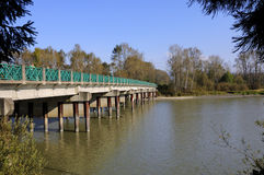 Bro till en ö Royaltyfri Bild
