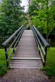Bro till en skog på den Haagse bosen, skog i Haag Fotografering för Bildbyråer