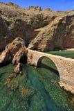 Bro till fortet av St John det baptistiskt i den Berlenga ön, Portugal Arkivfoton