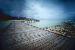 Bro till havet Royaltyfri Bild