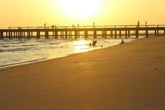 Bro till havet Arkivfoto