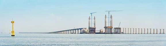 Bro under konstruktion Fotografering för Bildbyråer