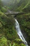 bro under vattenfallet Arkivbilder