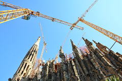Broaches and spires, Sagrada Famila in Barcelona Stock Image