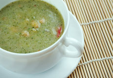 Broad Bean And Bacon Soup Royalty Free Stock Photography