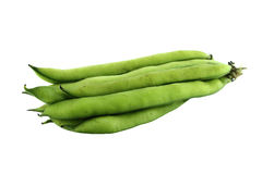 Broad bean pods and beans Stock Photo