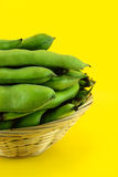 Broad bean pods and beans Stock Photography