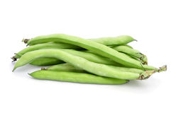Broad bean pods Stock Photography