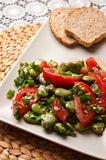 Broad bean salad food photography Stock Image