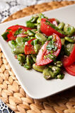 Broad bean salad food photography Royalty Free Stock Photos