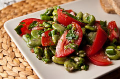 Broad bean salad food photography Stock Photo