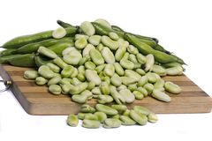 Broad beans Stock Photography