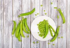Broad beans of peas Royalty Free Stock Image