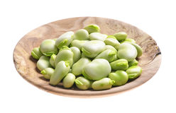 Broad beans   pods and grains Stock Images