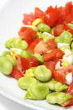 Broad beans salad Royalty Free Stock Image