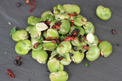 Broad beans salad. Stock Image