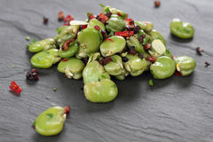 Broad beans salad. Stock Photo