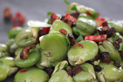 Broad beans salad. Royalty Free Stock Photography