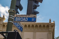 Broad and Church Street Stock Photos