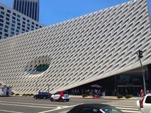 The Broad, a contemporary art museum in Los Angeles, California, home to 2000 works of art in the Broad collection. Royalty Free Stock Photography