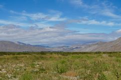 Broad Desert Vista at Anza-Borrego. Broad view of the desert in spring from Henderson Canyon Road in Borrego Springs, California royalty free stock photo