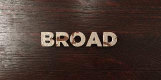 Broad - grungy wooden headline on Maple  - 3D rendered royalty free stock image. This image can be used for an online website banner ad or a print postcard Stock Photo