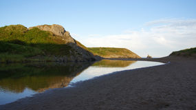 Broad haven beach in Pembrokeshire Wales Stock Photography